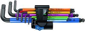 Wera - Vinkelnøglesæt 950/9 Hex-Plus Multicolour HF 1 BlackLaser