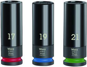 """Wera - Topnøgleindsatssæt 8790 CWheel Impaktor C Set 1, 1/2"""" 3 dele"""