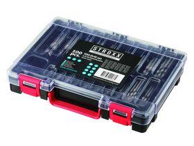 STROXX - Borsæt HSS 1-10mm / 0,5mm slebet, 100 dele