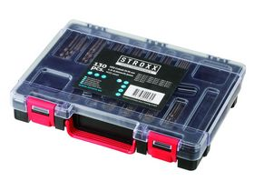 STROXX - Borsæt HSS cobolt 1-6mm / 0,5mm slebet, 130 dele