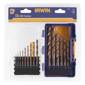 Irwin - Borsæt HSS PRO TIN 1,5 - 10mm, 15 dele