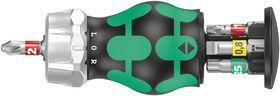 Wera - Bitsholder Kraftform Kompakt Stubby RA 1 m/magasin, 6 dele