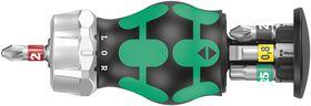 Wera - Bitsholder Kraftform Kompakt Stubby RA 2 m/magasin, 6 dele