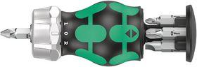 Wera - Bitsholder Kraftform Kompakt Stubby RA 3 m/magasin, 6 dele
