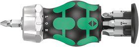 Wera - Bitsholder Kraftform Kompakt Stubby RA 4 m/magasin, 6 dele