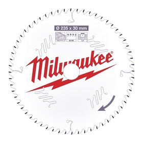 Milwaukee - Rundsavklinge Ø235x30x2,4mm Z60 Træ