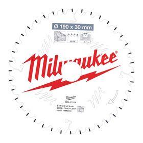 Milwaukee - Rundsavklinge ms Ø190x30x2,4mm Z40 Træ