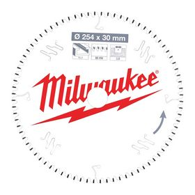 Milwaukee - Rundsavklinge ms Ø254x30x3,0mm Z80 Alu