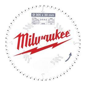Milwaukee - Rundsavklinge ms Ø305x30x3,0mm Z60 Træ