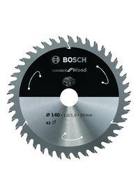 Bosch - Rundsavklinge ACCU STD 140X20mm Z42 Træ
