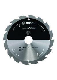 Bosch - Rundsavklinge ACCU STD 190X30mm Z16 Træ