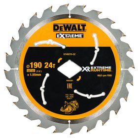 DeWALT - Rundsavklinge ø190x1,55mm m/diamanthul, Z24 træ