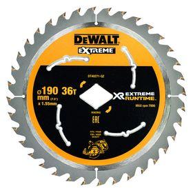 DeWALT - Rundsavklinge ø190x1,55mm m/diamanthul, Z36 træ