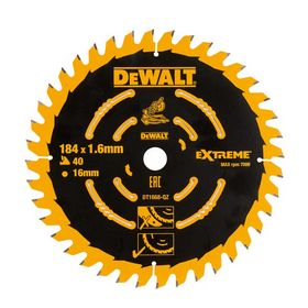 DeWALT - Rundsavklinge 184x1,6x16 z40 træ
