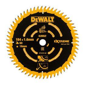 DeWALT - Rundsavklinge 184x1,6x16 z60 træ