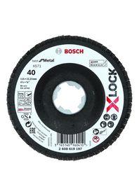 Bosch - Slibeskive X-LOCK  best *** flap disc til metal