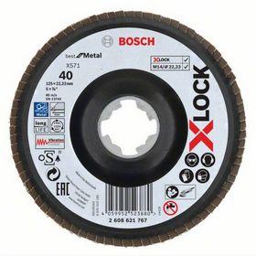 Bosch - Slibeskive X-LOCK flap disc 125mm K40 - best