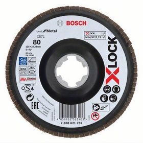 Bosch - Slibeskive X-LOCK flap disc 125mm K80 - best