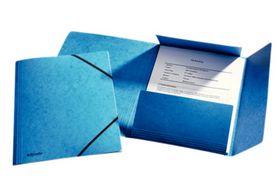 Esselte - Elastikmappe 3-klap A4 blå