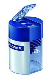 Staedtler - Blyantspidser m/ beholder Dobbelt Blå/sølv