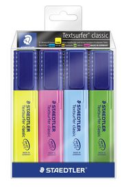 Staedtler - Overstregningspen Textsurfer 4 farver
