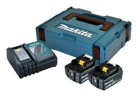 Makita - Batteripakke m/2X batteri BL1860B+ lynlader DC18RC