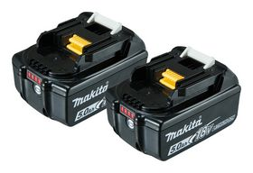 Makita - Batteripakke BL1850B 5,0AH á 2 stk