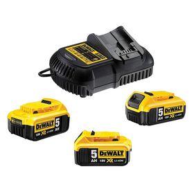 DeWALT - Batterisæt 18V XR DCB115P3 3x5Ah + lader
