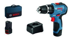 Bosch - Slagboremaskine GSB 12V-30 2X2,0AH 1XGAL 12V-20 Bag