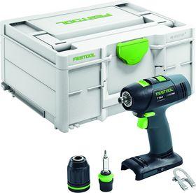 Festool - Bore-/skruemaskine T 18V+3-Basic