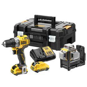 DeWALT - Skruemaskine & laser 360gr DCK212D2T 2x2,0 Ah 12V