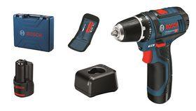 Bosch - Bore-/skruemaskine GSR 12V-15 2X2AH 10XTB case