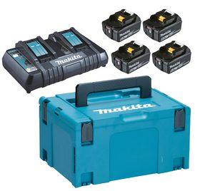Makita - Batteripakke m/4 x 6,0 Ah og dobb- lader