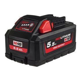 Milwaukee - Batteri 18V M18 B5,5 Ah Li-ION