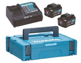 Makita - Batteripakke 2XBL1040B+DC10SB