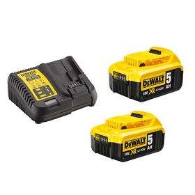 DeWALT - Akku batteripakke 2 stk 18V/5,0 Ah