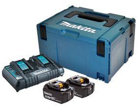 Makita - Akku batteripakke 2 x 18V/4,0 Ah + dobb. lader