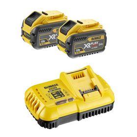 DeWALT - Oplader XR DCB118X2 med 2 batterier