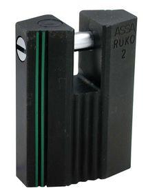 Assa Abloy - Hængelås RB2649 sort kl.2 Ø8mm stålbolt