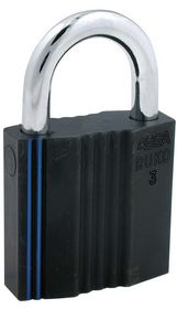 Assa Abloy - Hængelås RB3641 sort kl.3 Ø10mm bøjle