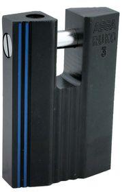 Assa Abloy - Hængelås RB3649 sort kl.3 Ø10mm stålbolt