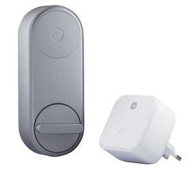 Yale - Lås Linus smart sølv + Connect Wi-Fi Bridge