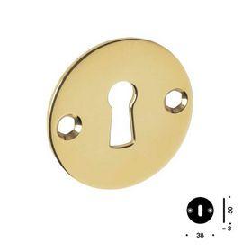 Ikons - Nøgleskilt gl. nøglehul mess. cc38 mm