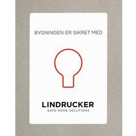 Lindrucker - Sikringsmærkat til vinduer/døre