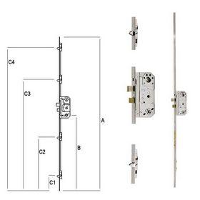 Fix - Stanglås 2150 med 25mm stolpe