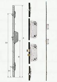 Fix - Stanglås med 2 låsekasser