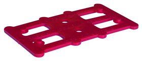 Harpun Fasteners - Justerbrikker Reglar 80x45x2mm rød 500 stk