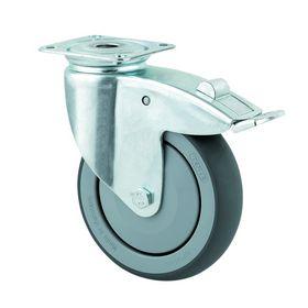 Tente - Møbelhjul med firkant plade og bremse