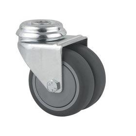 Tente - Hjul drejelig m/bolthul dobb fzb/gummi 50mm