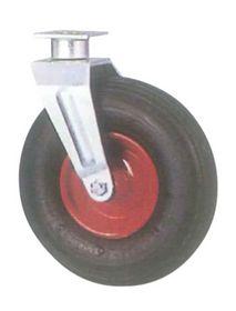 "Tente - Luftgummihjul drejelig m/plade fzb 8"" Ø211mm"